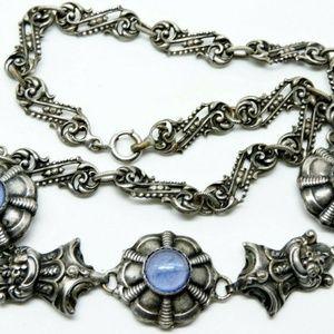 Antique French Art Nouveau Necklace Paste Stones